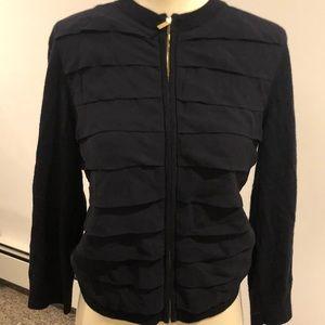 Sweaters - Tory Burch silk pleated cardigan
